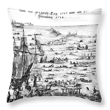 The Christmas Flood Throw Pillow