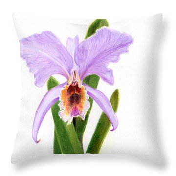 The Christmas Orchid Throw Pillow