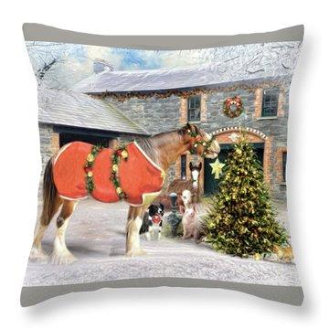The Christmas Star Throw Pillow