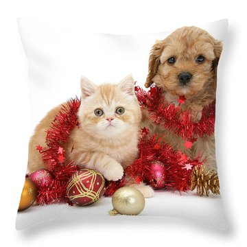 The Christmas Tree Destroyers Throw Pillow
