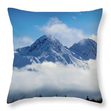 The Chugachs Throw Pillow