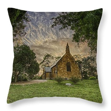 Throw Pillow featuring the photograph The Church by Chris Cousins