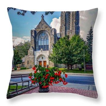 The Church In Summer Throw Pillow