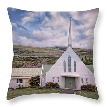 Throw Pillow featuring the photograph The Church by Jim Thompson