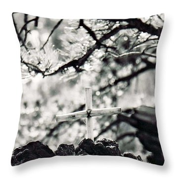 Throw Pillow featuring the photograph The Church by Juls Adams