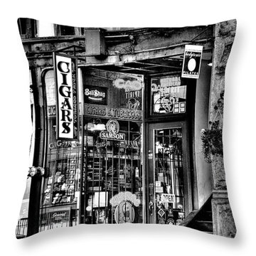 The Cigar Store Throw Pillow by David Patterson