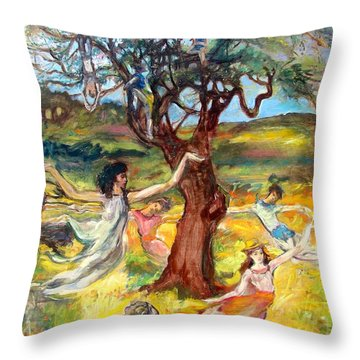 the Cinnamon Tree Throw Pillow