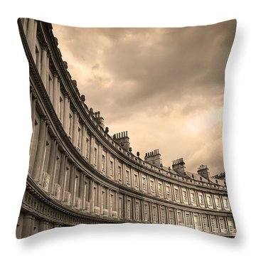 The Circus Bath England  Throw Pillow