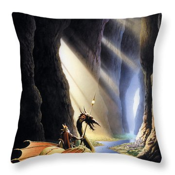 The Citadel Throw Pillow by The Dragon Chronicles - Steve Re