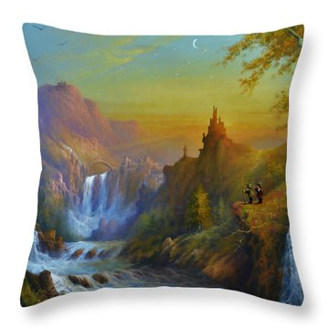 The Citadel Under The Moon Throw Pillow