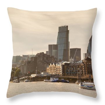 The City At Dusk Throw Pillow