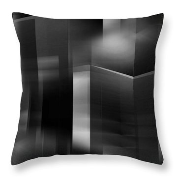 The City At Night 3 Throw Pillow by John Krakora