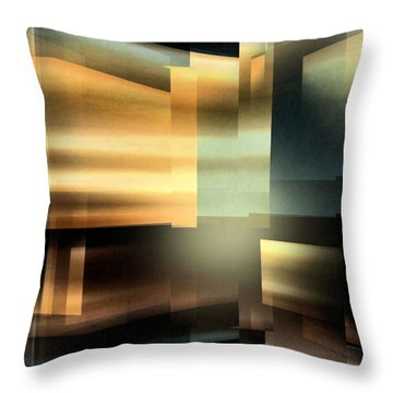 The City At Night Throw Pillow
