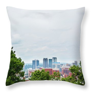 Throw Pillow featuring the photograph The City Beyond by Shelby Young