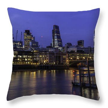 The City From The Southbank Throw Pillow