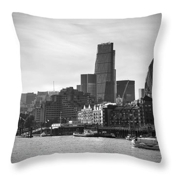 The City In Mono Throw Pillow
