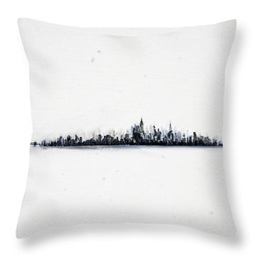 The City New York Throw Pillow
