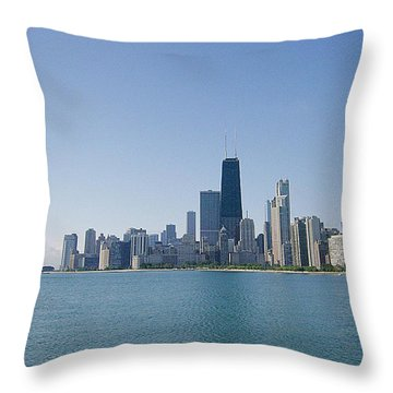 Throw Pillow featuring the photograph The City Of Chicago Across The Lake by Skyler Tipton