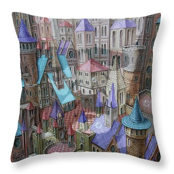 The City Of Crow Throw Pillow