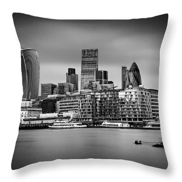 The City Of London Mono Throw Pillow