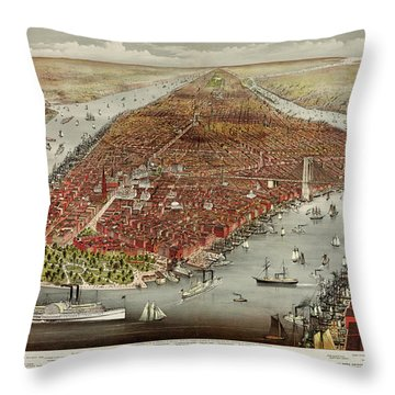 The City Of New York Throw Pillow