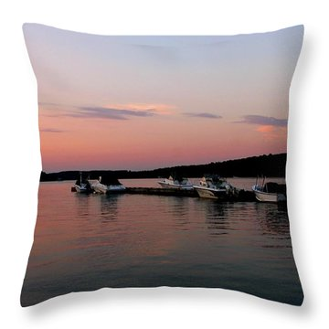 The City Of Ships Throw Pillow