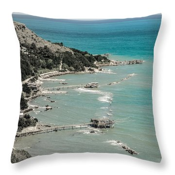 The City Of Waves Throw Pillow