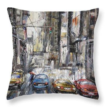The City Rhythm Throw Pillow