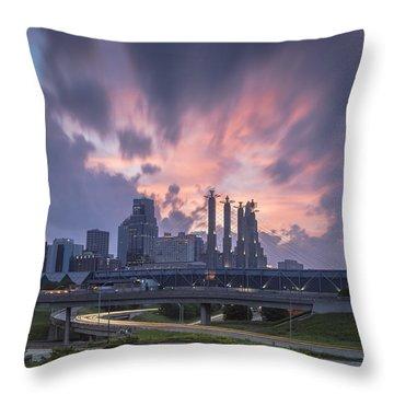 The City Rises Throw Pillow