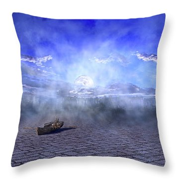 The City Sleeps To Hide Throw Pillow