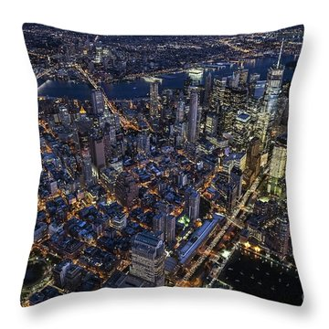 Throw Pillow featuring the photograph The City That Never Sleeps by Roman Kurywczak
