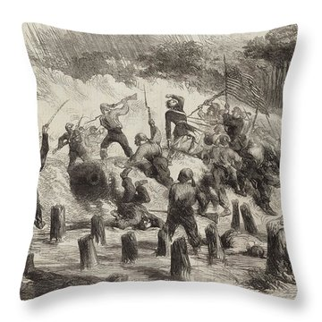 The Civil War In America  General Burnside's Expedition Throw Pillow
