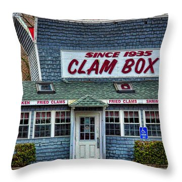 The Clam Box In Ipswich Throw Pillow