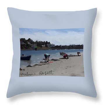 The Clam Diggers - Annisquam River  Throw Pillow