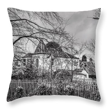 Throw Pillow featuring the photograph The Claremont by Jeremy Lavender Photography