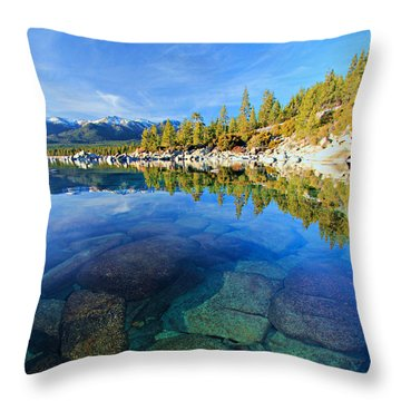 The Clarity Of Lake Tahoe Throw Pillow