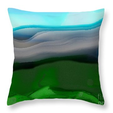 The Hilltop View Throw Pillow
