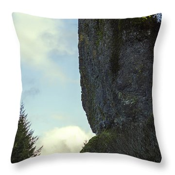 The Cliff Signed Throw Pillow
