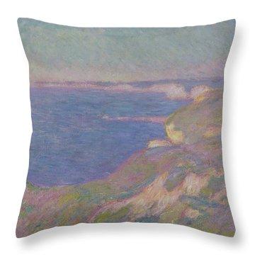The Cliffs Near Dieppe Throw Pillow