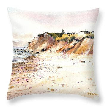 The Cliffs Of Aquinnah Throw Pillow