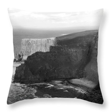 The Cliffs Of Mohar II - Ireland Throw Pillow by Mike McGlothlen