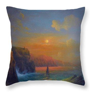 Ireland The Cliffs Of Moher  Throw Pillow by Joe Gilronan