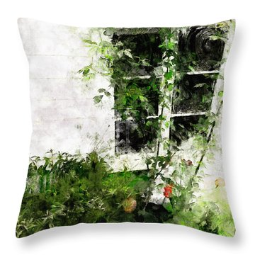The Climb Throw Pillow by Claire Bull