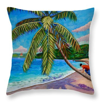 The Climb Throw Pillow