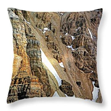 The Climb To Abbot's Hut Throw Pillow by Steve Harrington