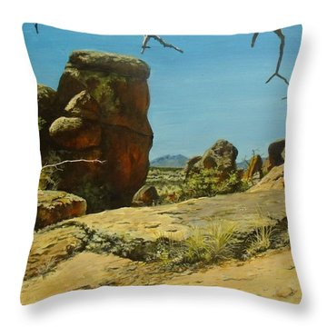 The Climb Up Throw Pillow