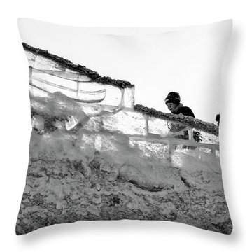 Throw Pillow featuring the photograph The Climbers by John Williams