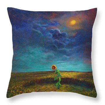 The Clock Of God Throw Pillow by Randy Burns