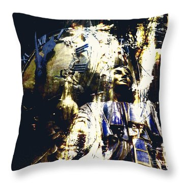 The Clock Struck One Throw Pillow