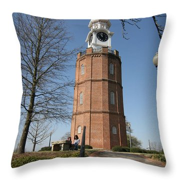 The Clocktower Throw Pillow